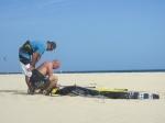pump up kite kahoona santa maria beach